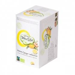 Lemon w / ginger, Organic and Fairtrade, 4x20 letters